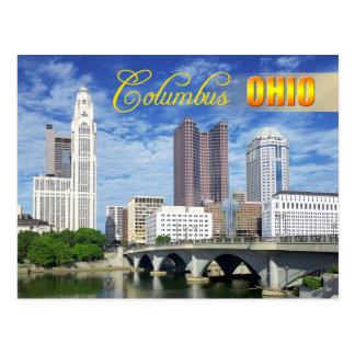 コロンブス、オハイオ州のスカイライン ポストカード