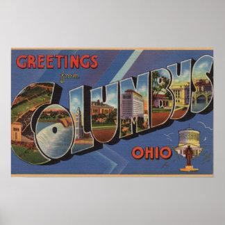 コロンブス、オハイオ州-大きい手紙場面3 ポスター