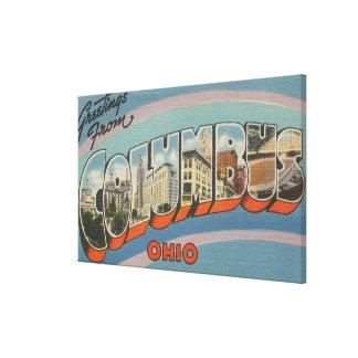 コロンブス、オハイオ州-大きい手紙場面4 キャンバスプリント