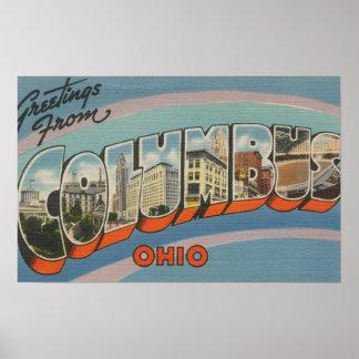 コロンブス、オハイオ州-大きい手紙場面4 ポスター