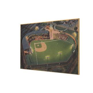 コロンブス、オハイオ州-赤い鳥の野球のアンテナ キャンバスプリント