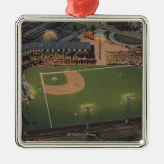 コロンブス、オハイオ州-赤い鳥の野球のアンテナ メタルオーナメント
