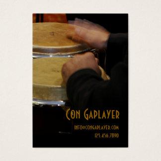 コンガのドラムのcongaplayerの手 名刺