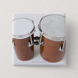コンガのドラム 5.1CM 正方形バッジ