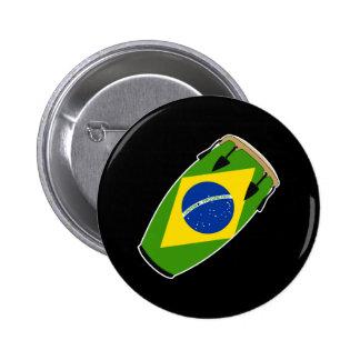 コンガの旗ブラジル 5.7CM 丸型バッジ
