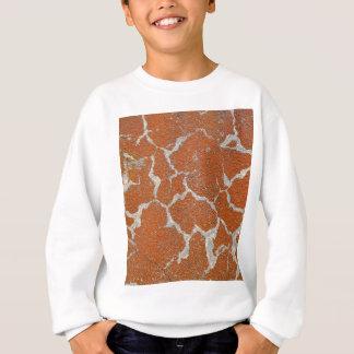コンクリートの古いあずき色の色 スウェットシャツ