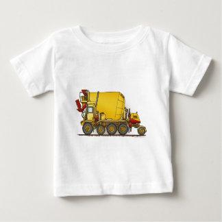 コンクリートミキサー車のトラックの乳児のTシャツ ベビーTシャツ
