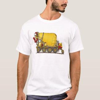 コンクリートミキサー車のトラックはTシャツに人を配置します Tシャツ