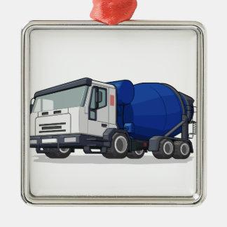 コンクリートミキサー車のトラック メタルオーナメント