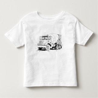 コンクリートミキサー車 トドラーTシャツ