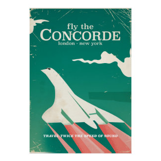 コンコルドのヴィンテージの休暇ポスター ポスター