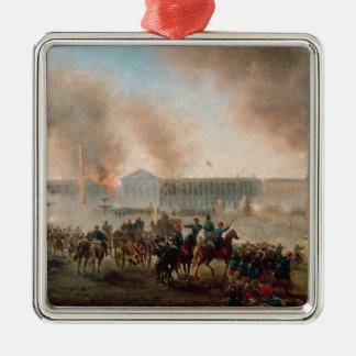 コンコルド広場の戦い、1871年 メタルオーナメント