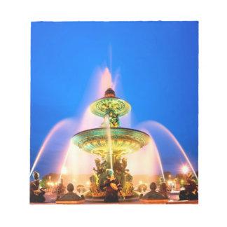 コンコルド広場、パリ、フランス ノートパッド