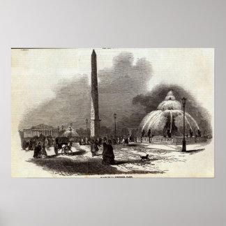 コンコルド広場、パリ ポスター