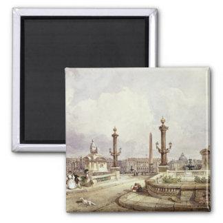 コンコルド広場、c.1837 マグネット