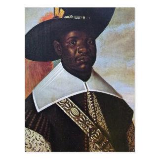 コンゴからの黒人男性 ポストカード