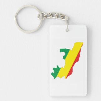 コンゴの国旗の形の地図の記号 キーホルダー