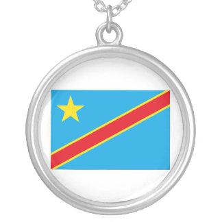 コンゴの旗 シルバープレートネックレス