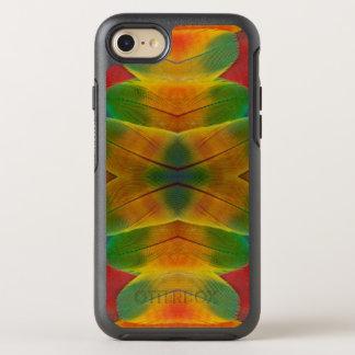 コンゴウインコのオウムの羽の万華鏡のように千変万化するパターン オッターボックスシンメトリーiPhone 8/7 ケース