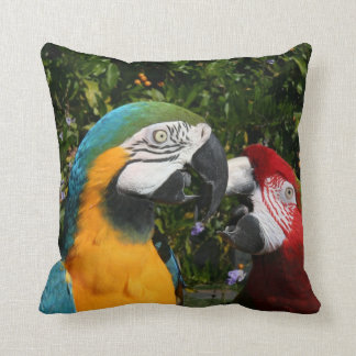 コンゴウインコのオウムの鳥動物の野性生物 クッション