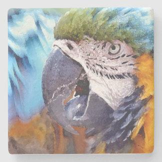 コンゴウインコのオウムの鳥動物の野性生物 ストーンコースター