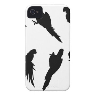 コンゴウインコのシルエットセット Case-Mate iPhone 4 ケース