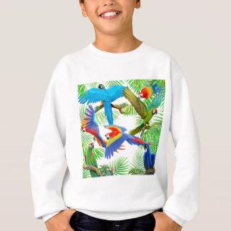 コンゴウインコのジャングルはスエットシャツをからかいます スウェットシャツ