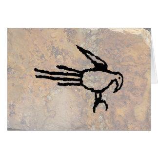 コンゴウインコの岩石彫刻、Boca Negra渓谷、ニューメキシコ カード