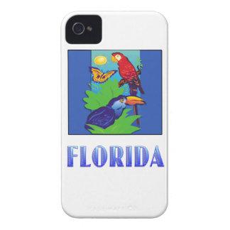 コンゴウインコ、オウム、蝶及びジャングルフロリダ Case-Mate iPhone 4 ケース