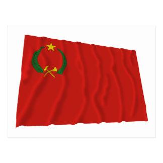 コンゴ人民共和国の振る旗(1970-1992年) ポストカード
