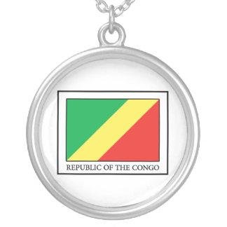 コンゴ共和国 シルバープレートネックレス