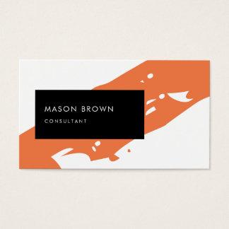 コンサルタントのモダンなオレンジDiagonaleの黒い長方形 名刺
