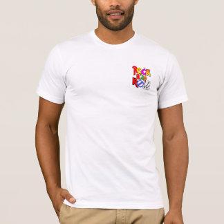 コンサートのスタイルのデザインの前部ポケットおよび背部(白い) Tシャツ