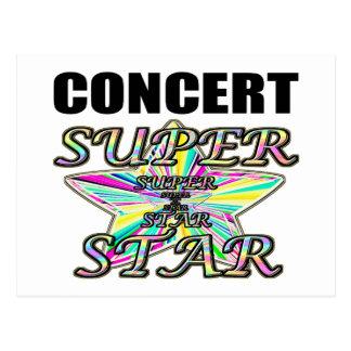 コンサートのスーパースター ポストカード