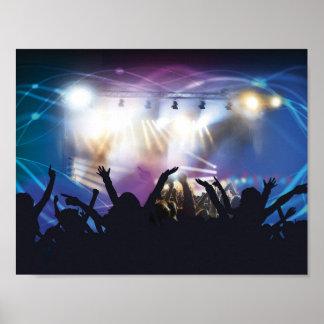 コンサートの群集ポスター ポスター