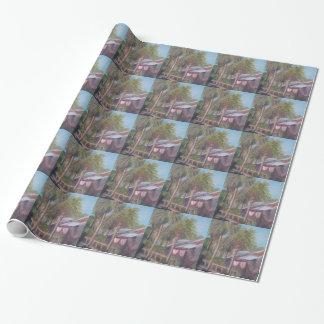 コンシュの家の通路の包装紙 包装紙