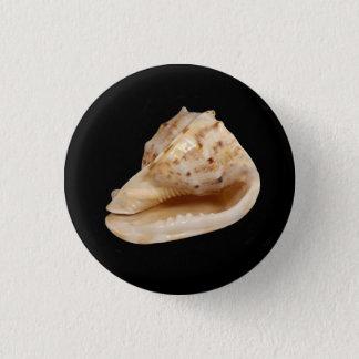 コンシュの貝のバッジ 3.2CM 丸型バッジ