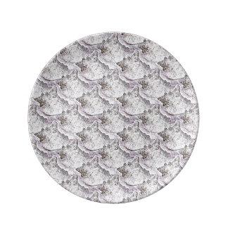 コンシュの貝パターン装飾的なプレート 磁器プレート