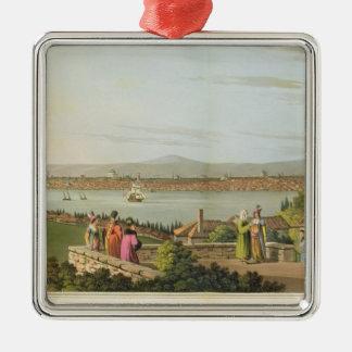 コンスタンチノープルの眺めは、「の意見からの1つをめっきします メタルオーナメント