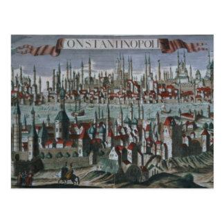 コンスタンチノープルの遅く第18 centurの全景 ポストカード