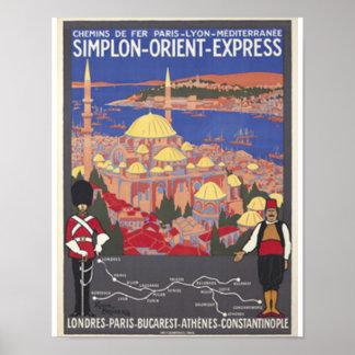 コンスタンチノープルへのオリエント急行 ポスター