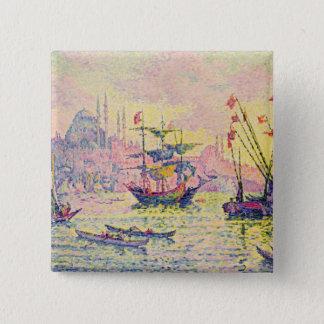 コンスタンチノープル1907年の眺め 5.1CM 正方形バッジ