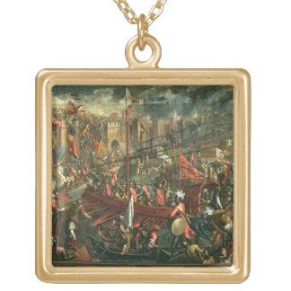 コンスタンチノープル(キャンバスの油)の取得 ゴールドプレートネックレス