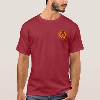 コンスタンチーヌあずき色及び金ゴールドのLaureaの素晴らしいワイシャツ Tシャツ