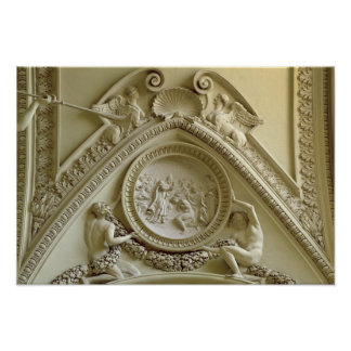 コンスタンチーヌの洗礼を描写する円形浮彫り ポスター