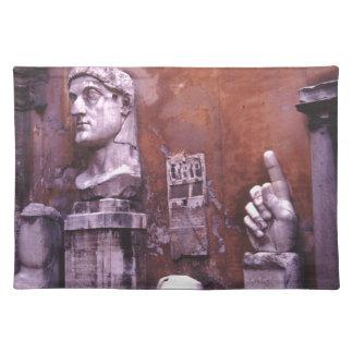 コンスタンチーヌローマの彫刻が施された身体部分の大国 ランチョンマット