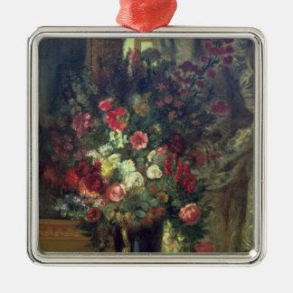 コンソール1848-49年の花のつぼ メタルオーナメント