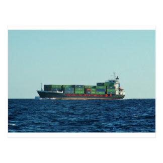 コンテナー船 ポストカード