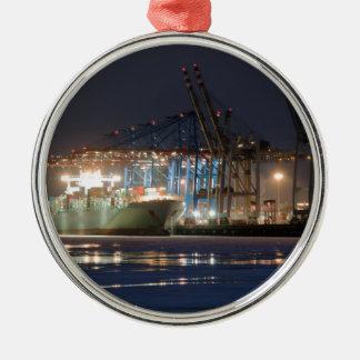 コンテナー船 メタルオーナメント