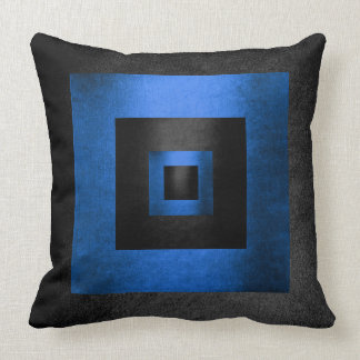コンテンポラリーで幾何学的で黒いコバルトのミニマリズム クッション